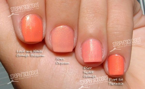 Peach Shimmer Nail Polish Comparisons | Beauty | Pinterest | Peach ...