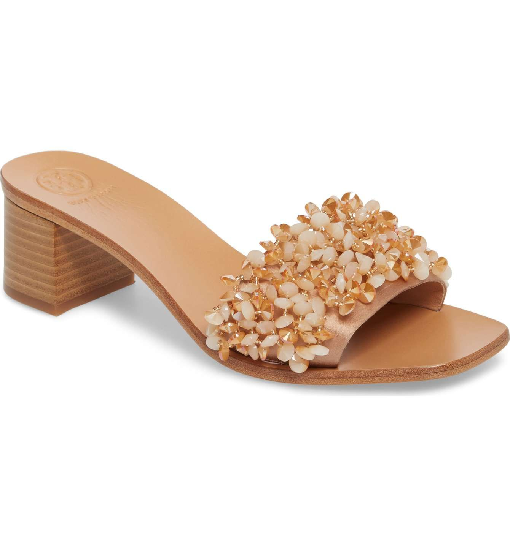 a31dbbe86 Main Image - Tory Burch Logan Embellished Slide Sandal (Women ...