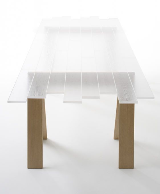 Nendo Transparent Table Home And Furniture Pinterest Acrylic - Colorful judd side table with different variations