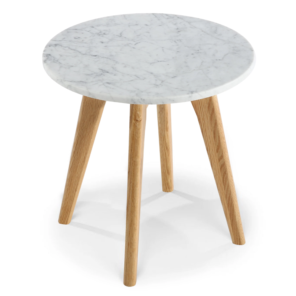 Riley Marble Round Side Table Poly Bark Marble Round Coffee Table Round Side Table Marble Side Table Round [ png ]