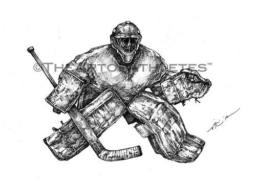 The Netminder Right Art Hockey Drawing Hockey Hockey Goalie