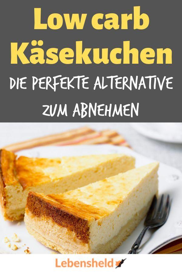 Low Carb Käsekuchen - Low Carb Held