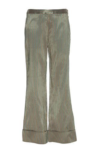 Rhodia Metallic Striped Trouser by Zeus + Dione | Moda Operandi