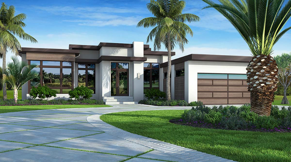 Southwest Style House Plan with 3 Bed 4 Bath 2 Car Garage