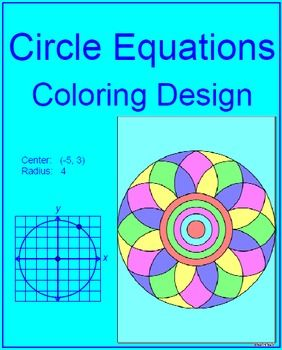 Circles Equations Of Circles 1 Coloring Activity With Images