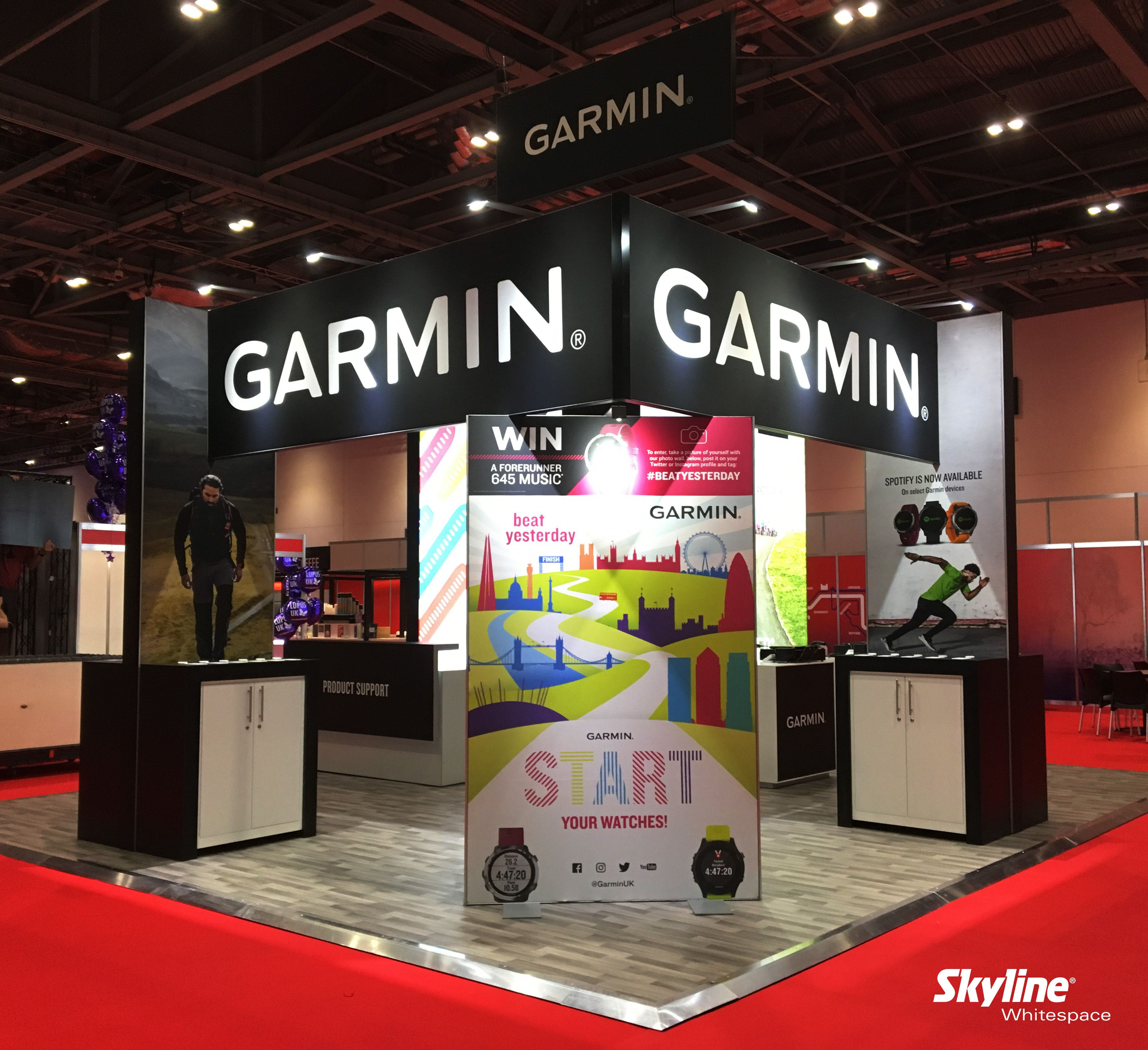 We were pleased to get into the spirit of the London Marathon by working with #Garmin on their stand at the #London #Marathon #Running #Expo. #Design #Exhibitionstand #exhibition #event #customstand #exhibitor #exhibitionideas