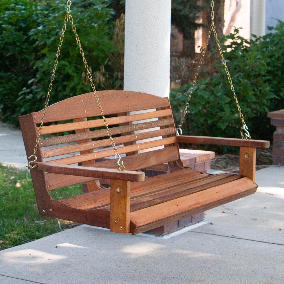 Cedar classic porch swing porch swing patio swing