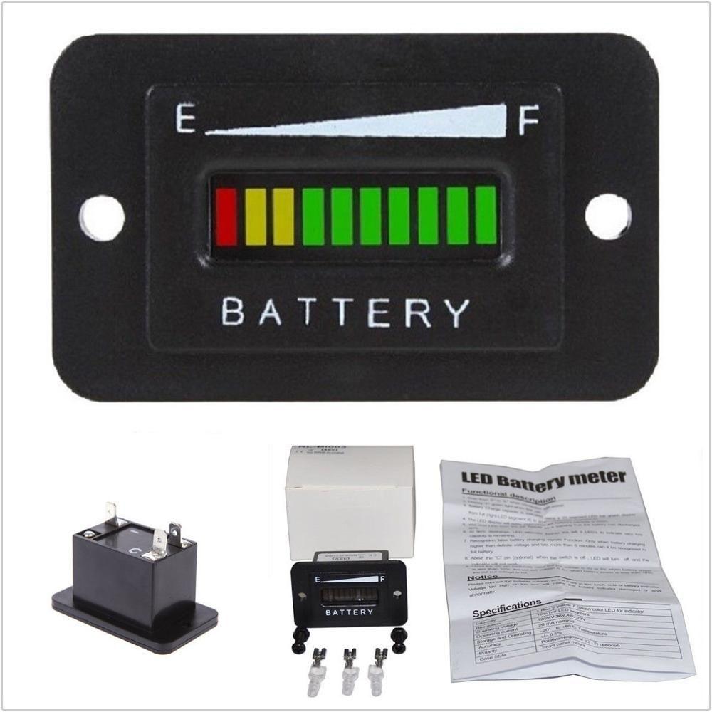 36v volt led battery indicator meter gauge for ezgo club. Black Bedroom Furniture Sets. Home Design Ideas
