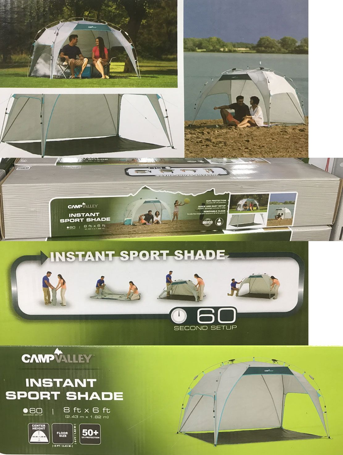 Tents and Shelters 72670 New C&valley 60 Second Instant Setup Sport Shade/Shelter Canopy & Tents and Shelters 72670: New Campvalley 60 Second Instant Setup ...