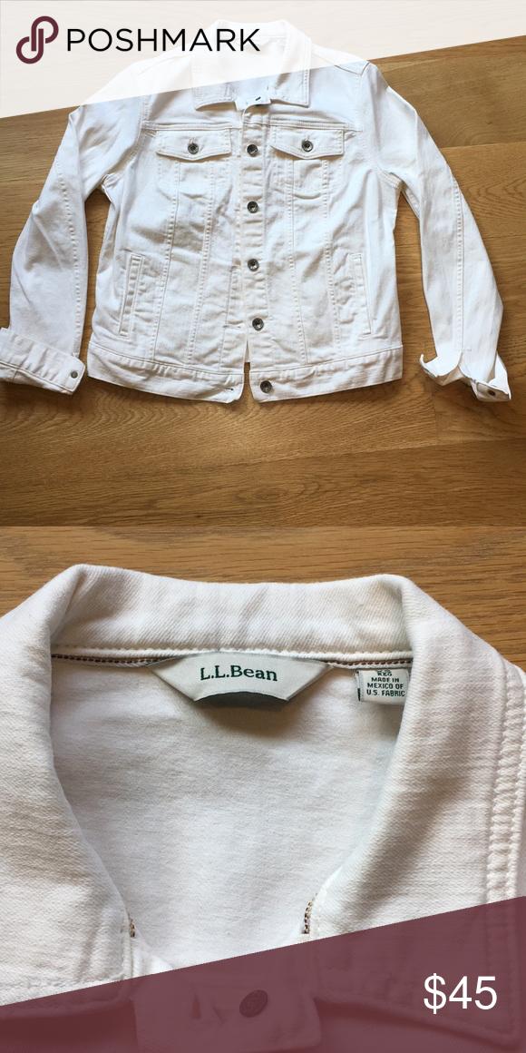 1f9a9f464f40 Women's ll Bean jean jacket Omens white denim ll Bean jacket. No stains,  perfect condition L.L. Bean Jackets & Coats Jean Jackets