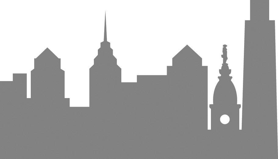 Philly City Skyline City Skyline Painting Watercolor Landscape