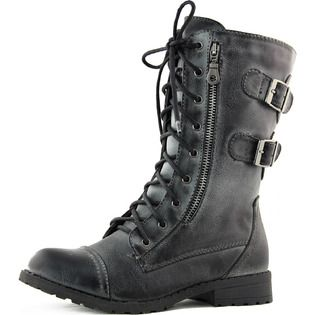 Wild Diva Women S Wild Diva Tina 01 Lace Up Military Ankle Boots Fashion Shoes At Sears Com Ankle Boots Fashion Boots Ankle Boots