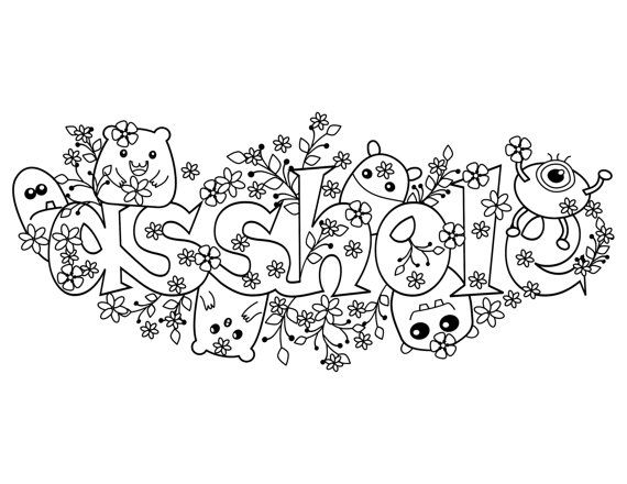 Coloring Pages For Adults Cuss Words : Asshole swear words coloring page from the by