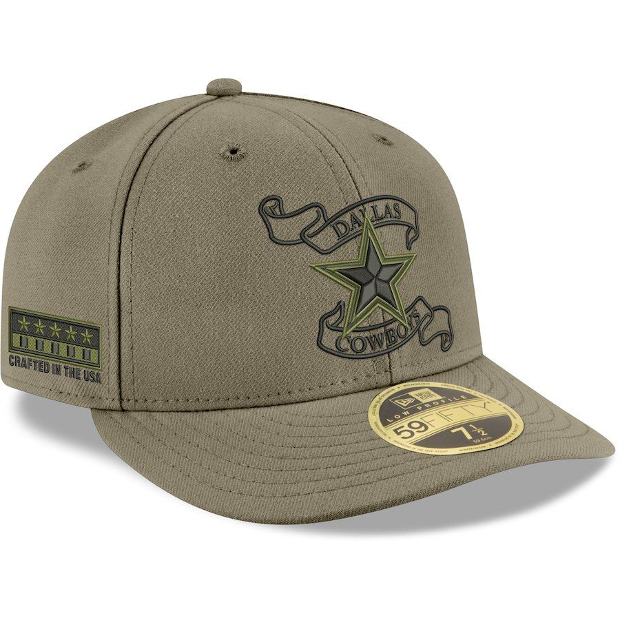 30a5ab67 Men's Dallas Cowboys New Era Green Crafted in the USA Low Profile ...