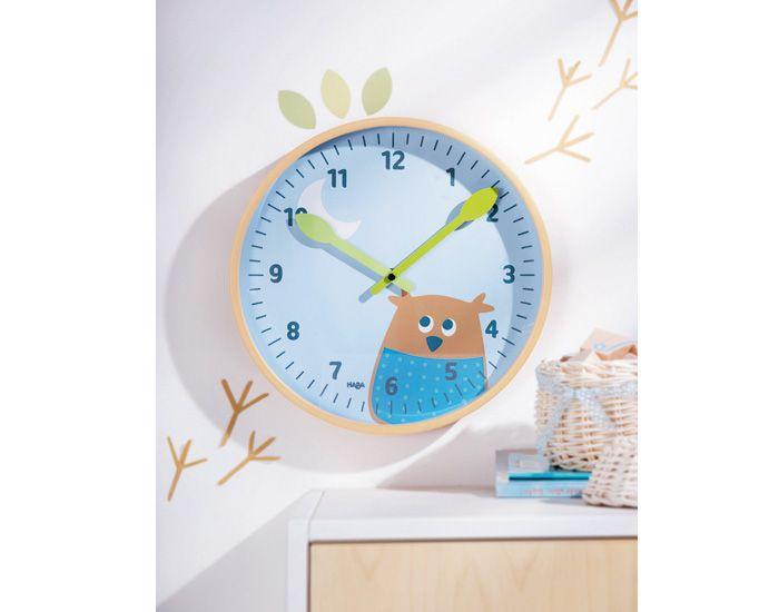 haba horloge murale hibou des bois déco chambre bébé
