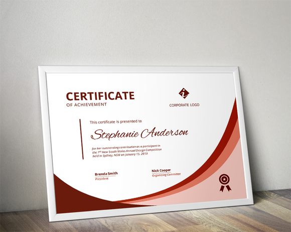Modern Ms Word Certificate By Inkpower On Creative Market