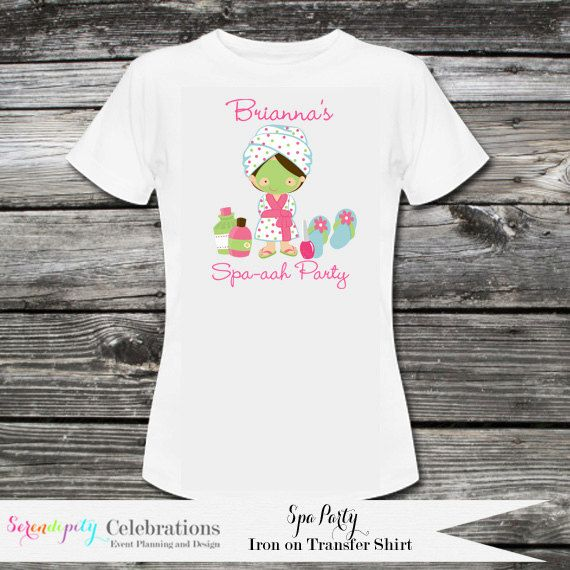 Spa Party T-Shirt Personalized T-Shirt Spa Party Spa Party Favors