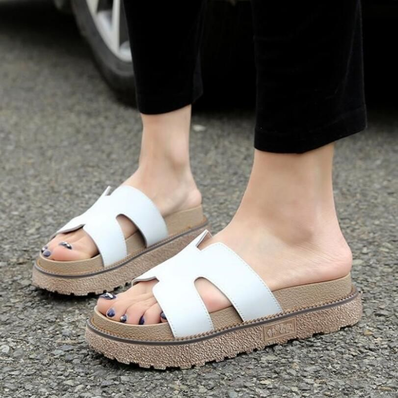 Price tracker and history of New Shoes Woman Rome Style Women Flats Slippers  thickness bottom Sandals Summer Platforms Flip Flops
