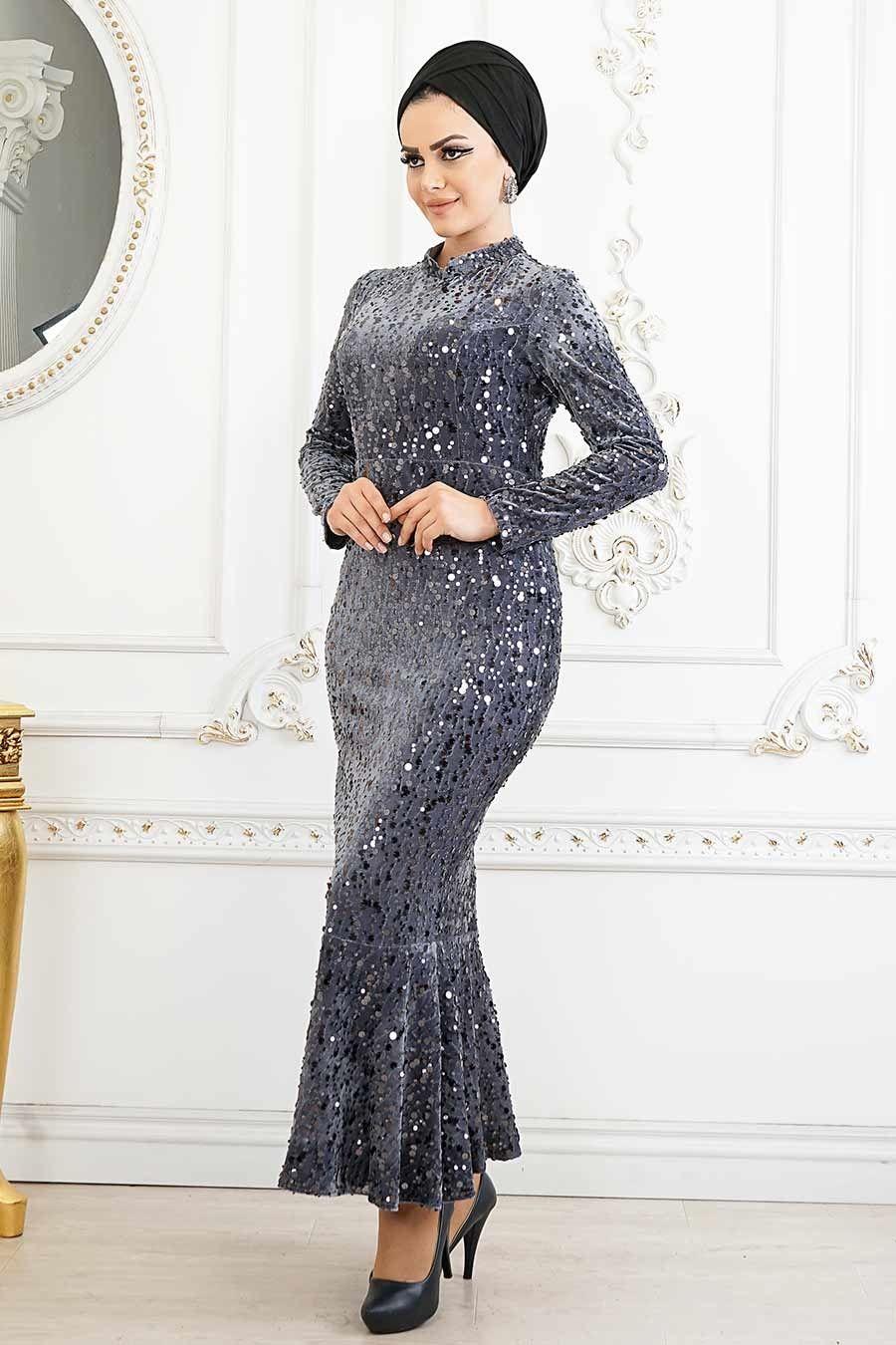Tesetturlu Abiye Elbise Balik Model Fume Tesettur Abiye Elbise 87760fu Tesetturisland Com Elbise Resmi Elbise The Dress