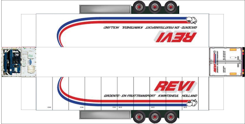 Trailer45 Papieren Modellen Vrachtwagens