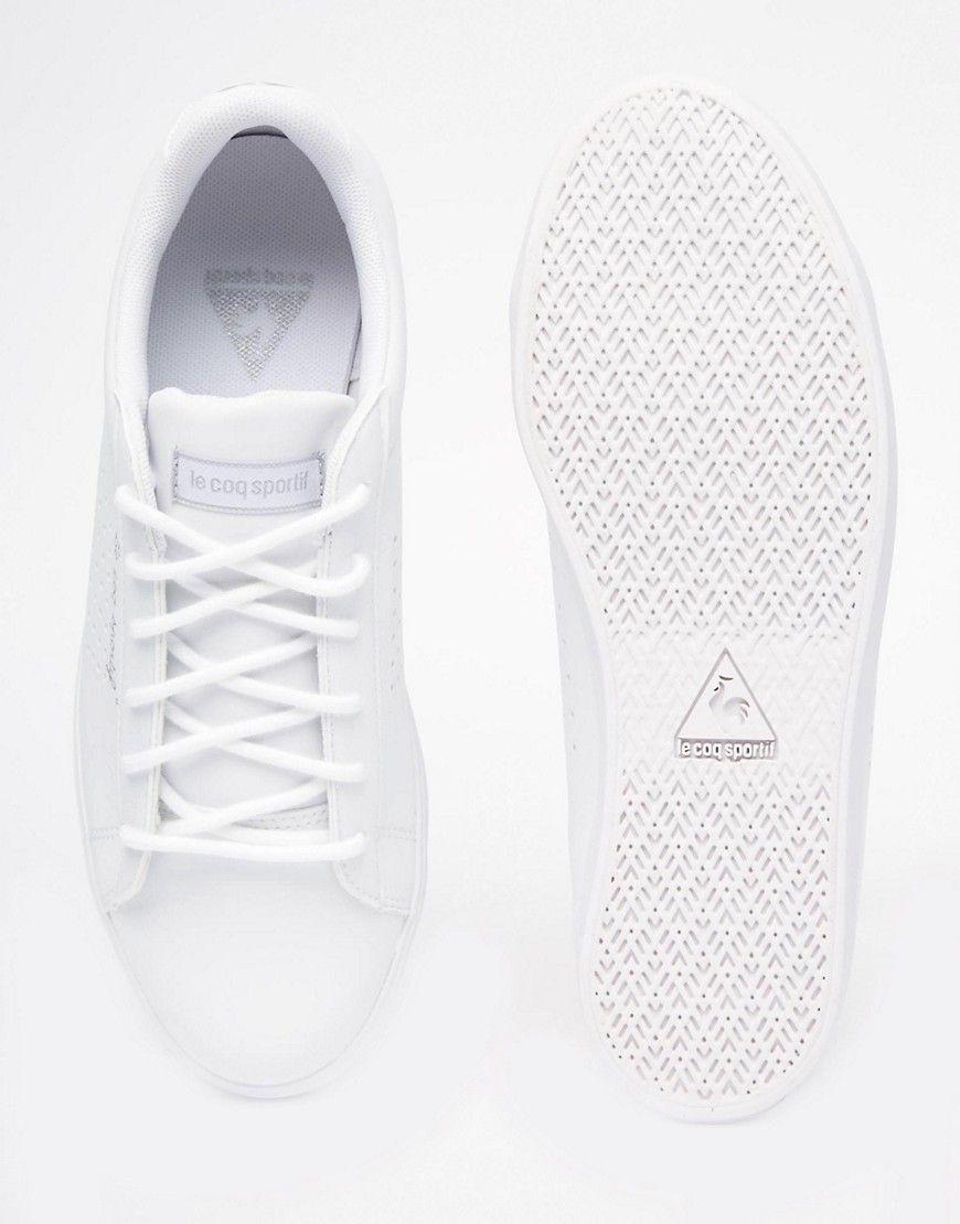 sale retailer 034e0 d415f Image 4 of Le Coq Sportif Agate White Leather Sneakers