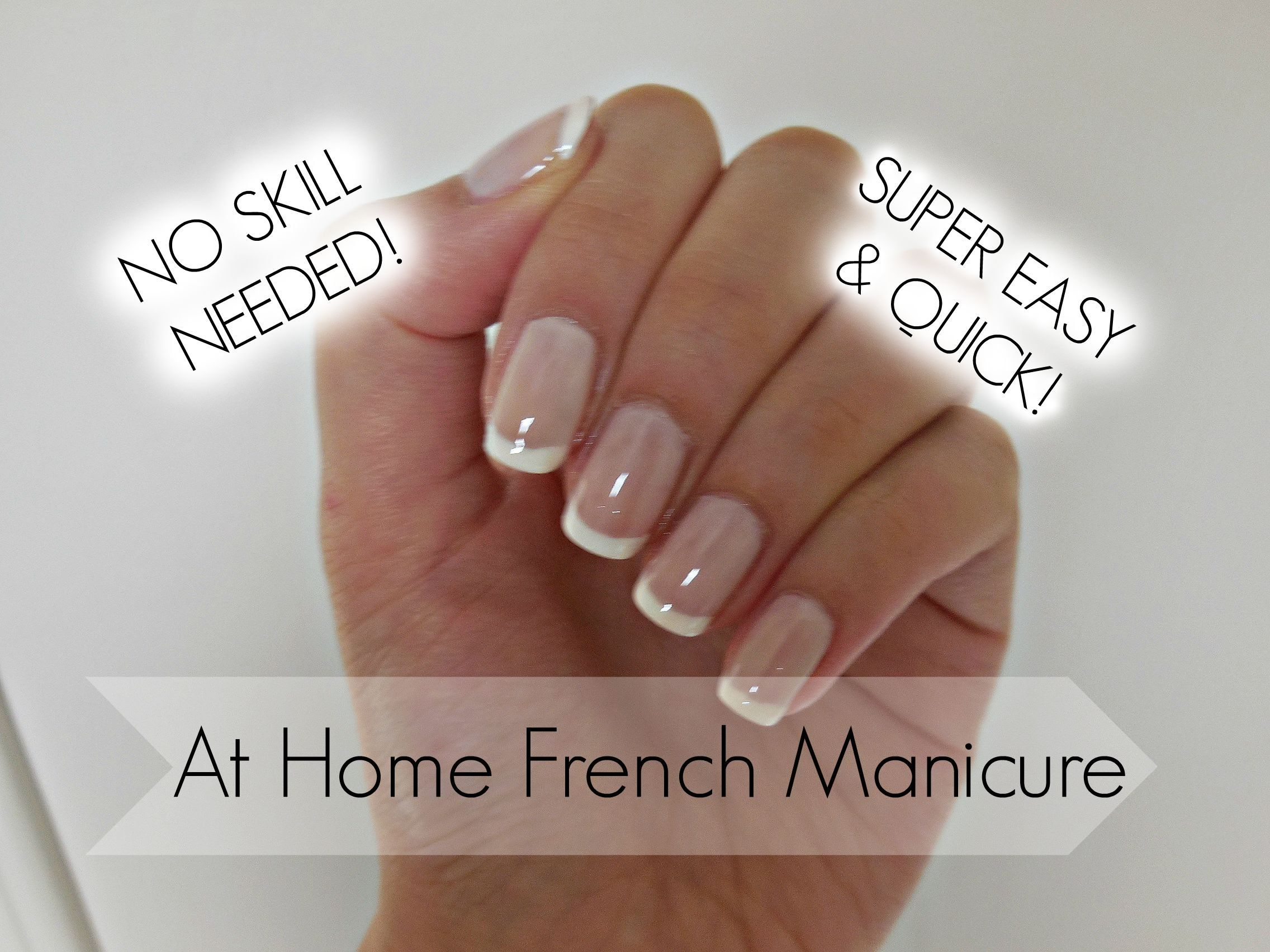 Easiest French Manicure Tutorial EVER! | Wicked Talons | Pinterest ...