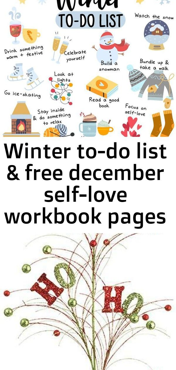 Winter to-do list & free december self-love workbook pages