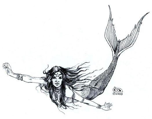 Mermaid+Figure+Drawing | Easy Mermaid Drawings In Pencil ...