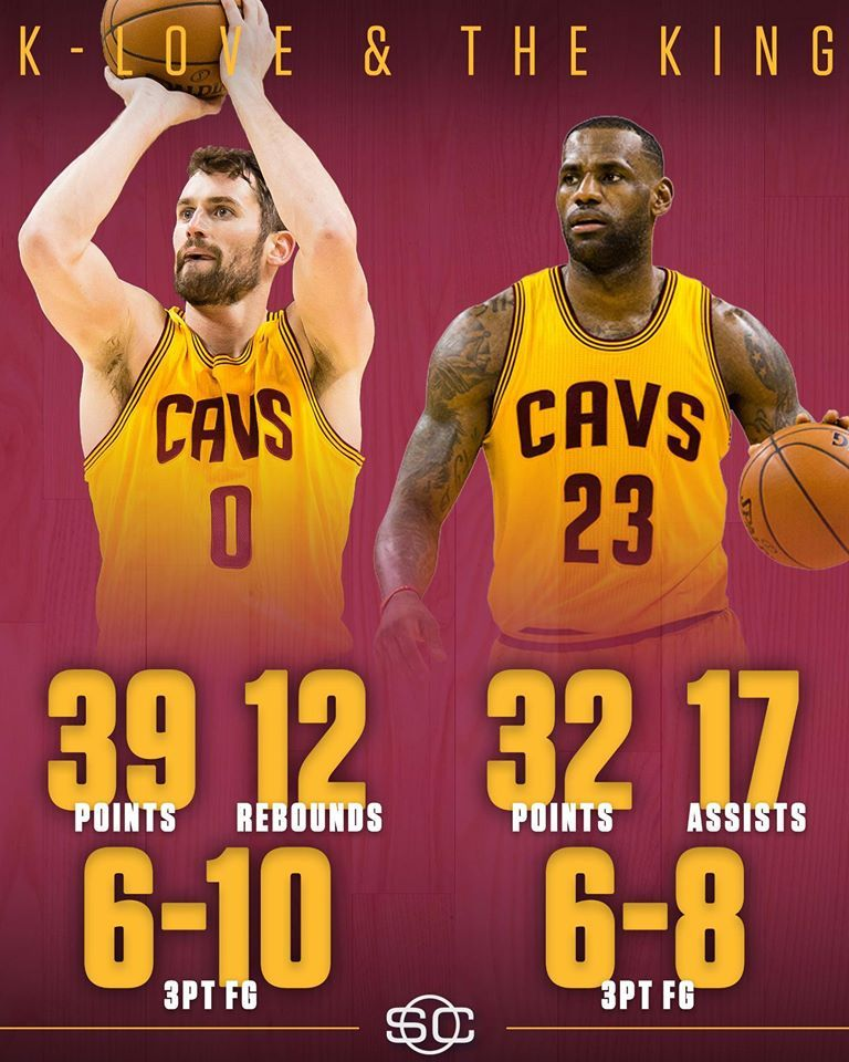 buy online 4773e bebc6 Kevin Love and LeBron James lead Cleveland Cavaliers to win vs Washington  Wizards in an OT thriller, 140-135.