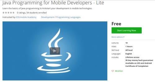 Java Programming for Mobile Developers - Lite http://ift.tt/1SdXq5h  #Java #Programming #Mobile