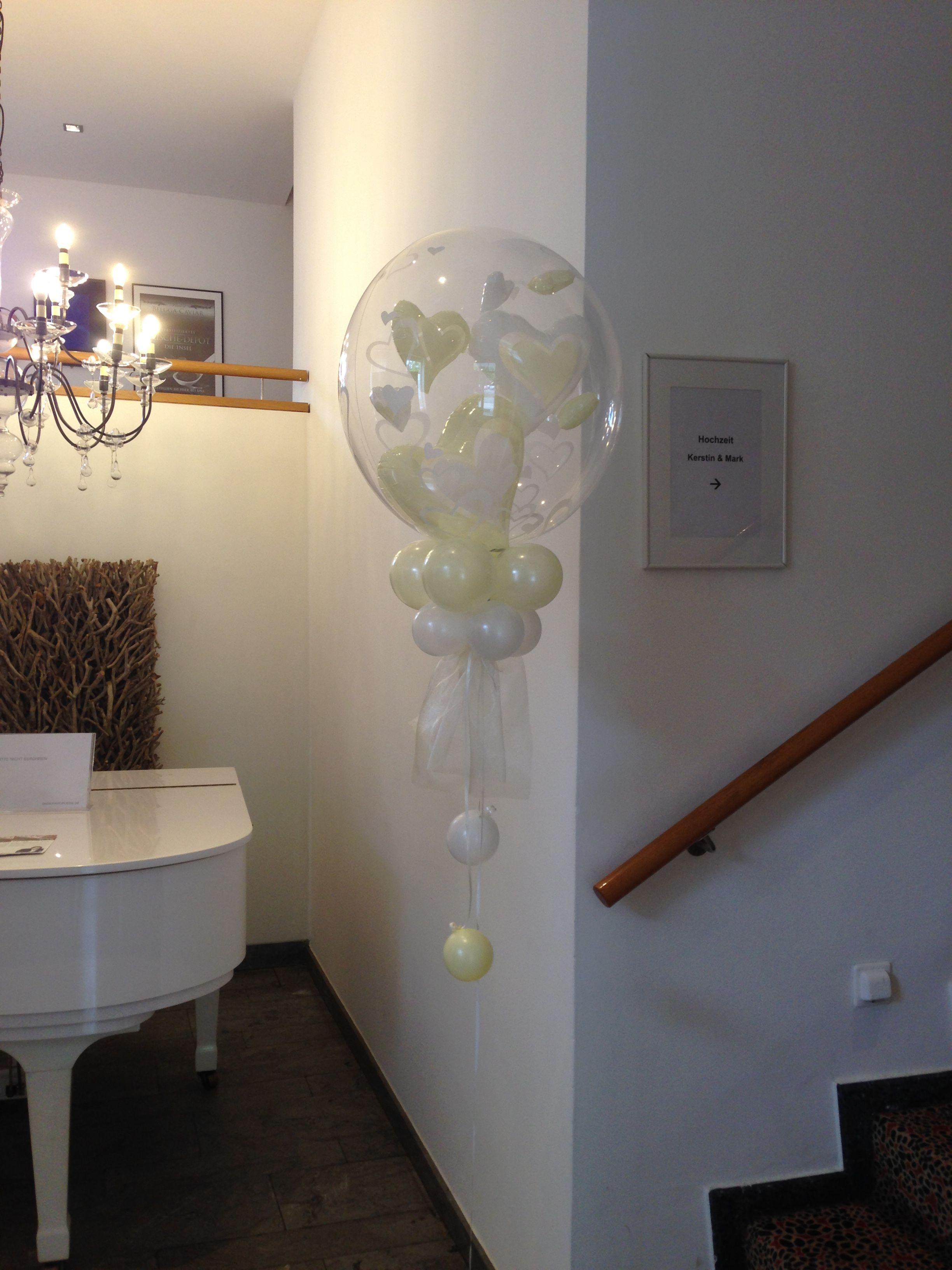 Bubble Ballons Mit Herzen Als Luftballons Dekoration Zur Hochzeit