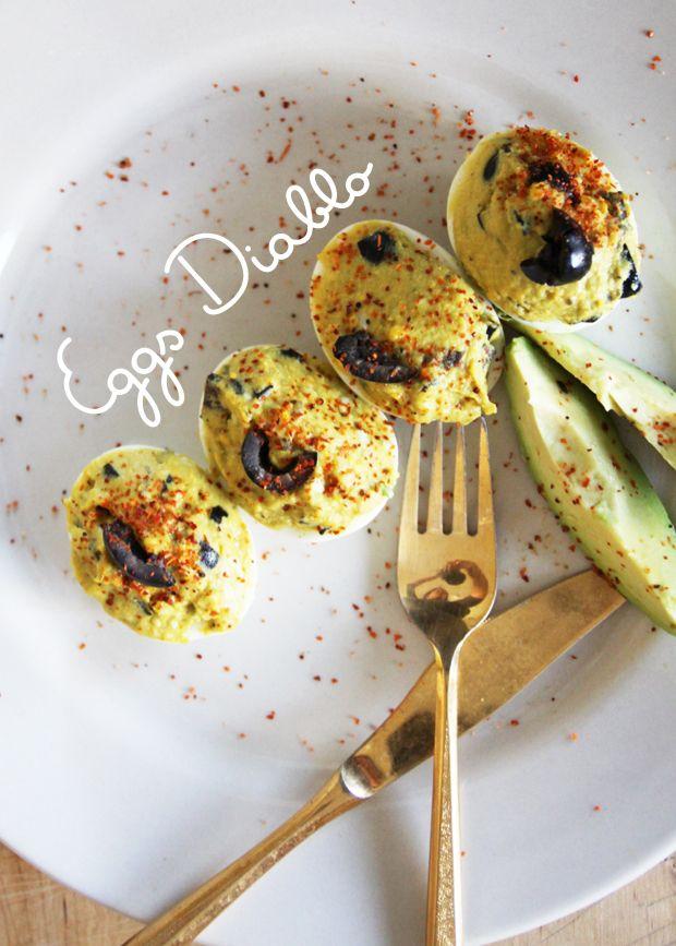 Avocado Deviled Eggs #food #recipe
