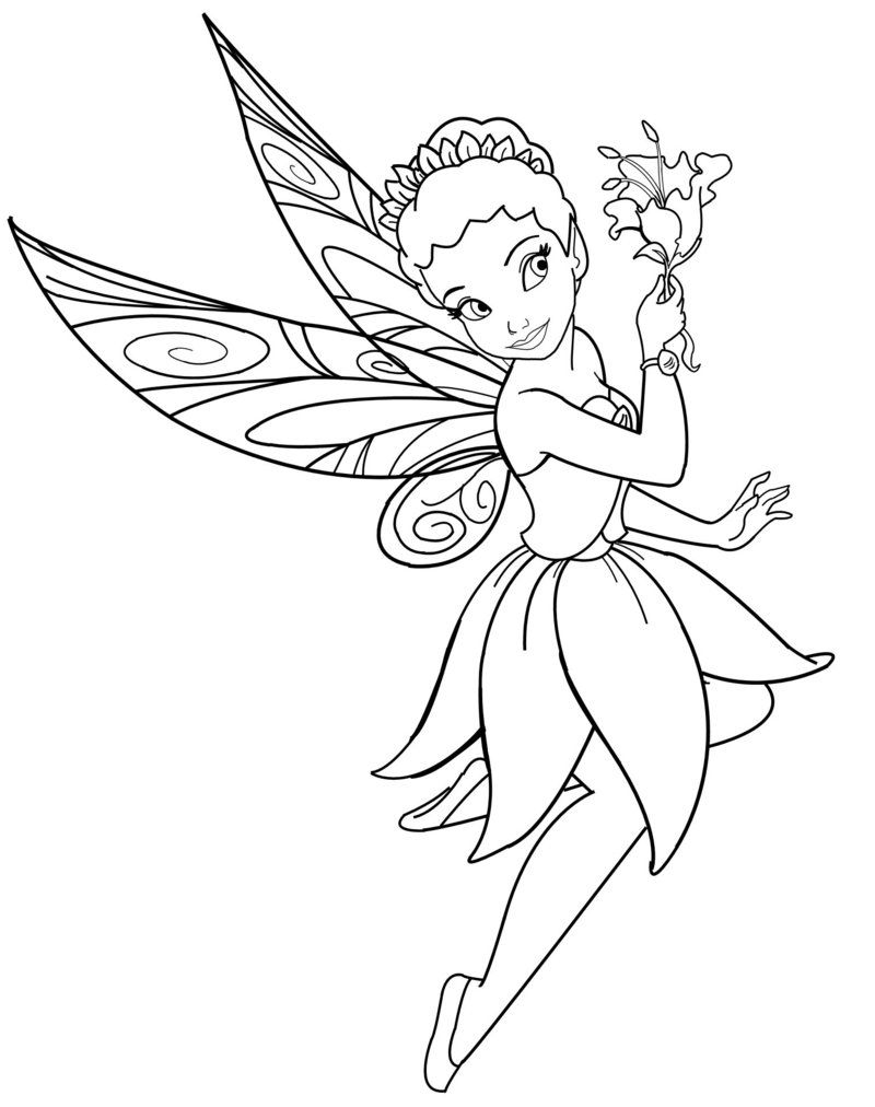 fairy coloring pages for kids Disneyland Printable Coloring Pages: Disney Characters Fairies  fairy coloring pages for kids