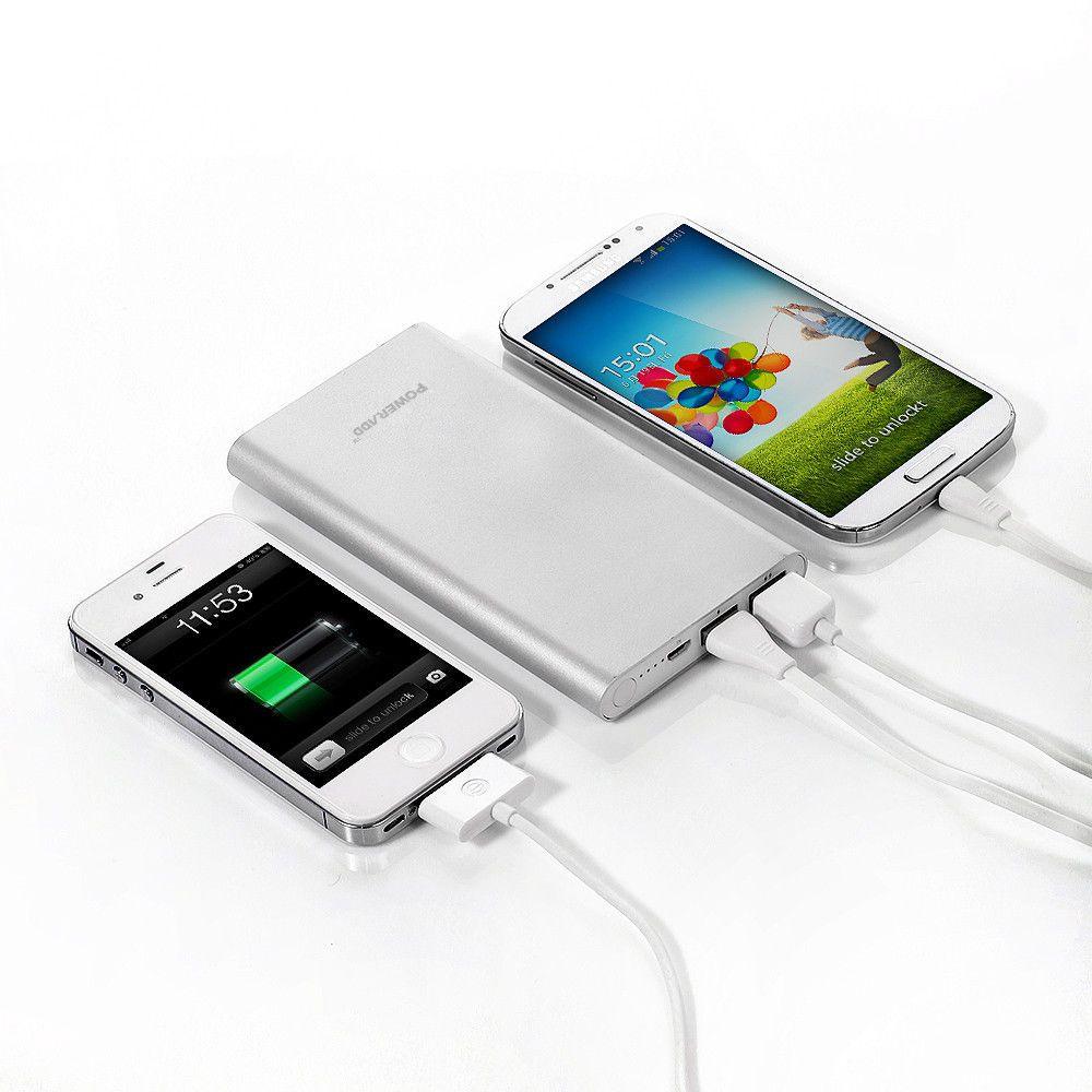 External 10000mah dual usb portable backup battery charger
