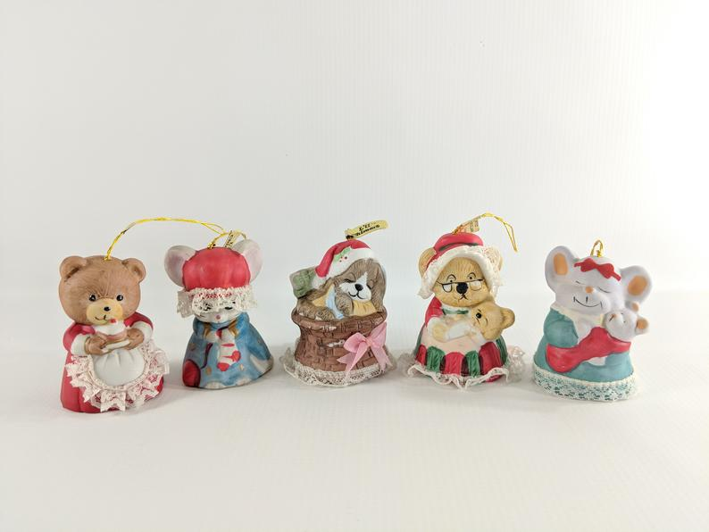 Made by Jasco L/'il Chimer/'s bells 1970/'s Christmas decor Christmas bells Vintage Christmas tree ornament