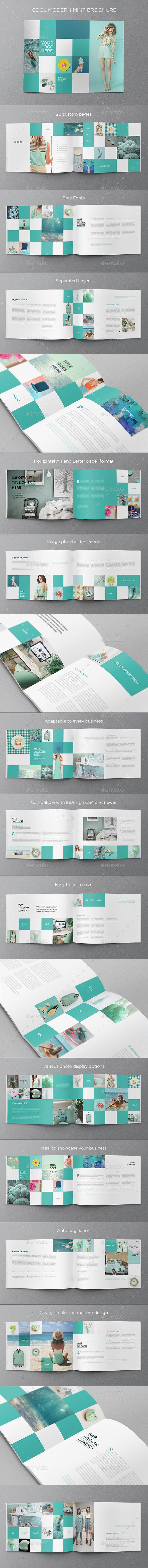 Cool Minimal Mint Brochure | Carpeta, Editorial y Tipografía