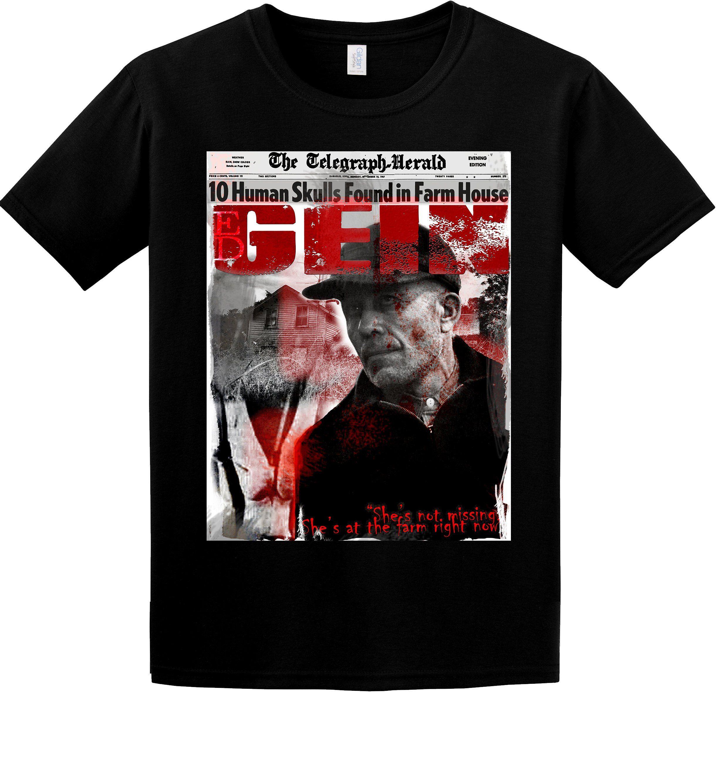 Ed Gein Butcher Of Plainfield Serial Fan T Shirt Mens Tops