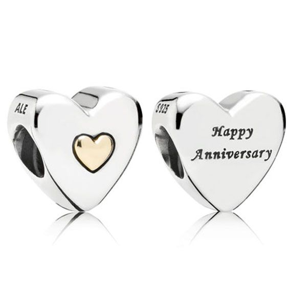 14k Happy Anniversary Charm
