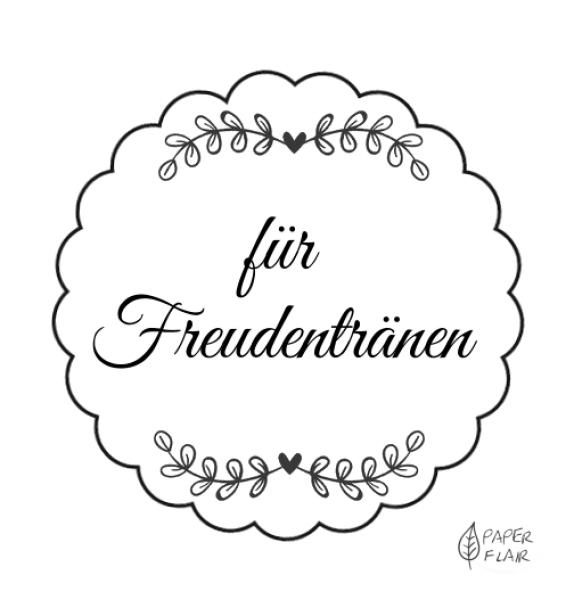Aufkleber Hochzeit - für Freudentränen, 20 Stck | Freudentränen ...