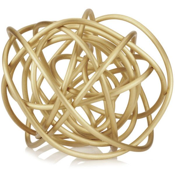 Kelly Wearstler Knot Sculpture ($1,495) ❤ liked on Polyvore featuring home, home decor, brass, bronze sculpture, bronze home decor, handmade home decor and kelly wearstler