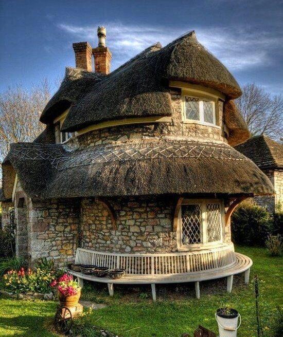 Rubble Stone Cottage Near Bristol England Via Archpics Storybook Cottage Thatched Cottage Stone Cottage