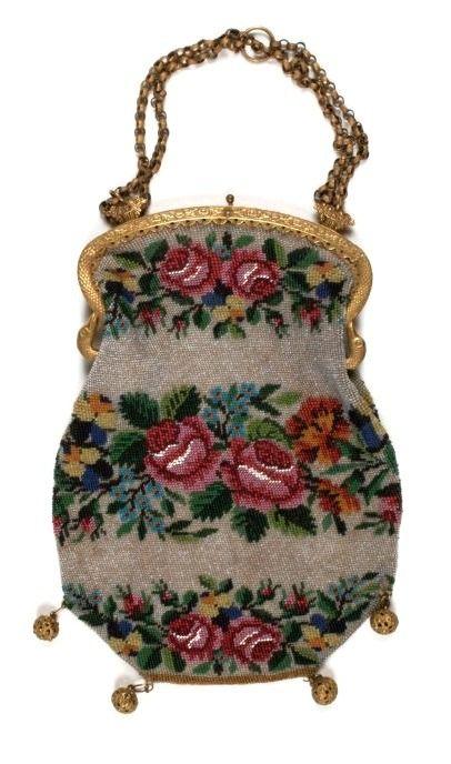 This mid-nineteenth century beaded handbag courtesy of the Birmingham Museum and Art Gallery.