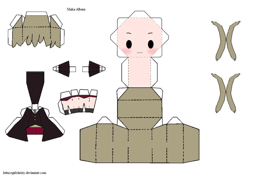 Papercraft Maka Albarn  Soul Eater  Anime Papercrafts