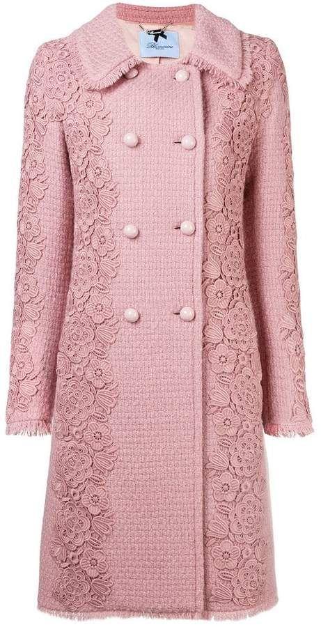 551b4a177 Blumarine floral embroidered coat | clothes em 2019 | Casacos e ...