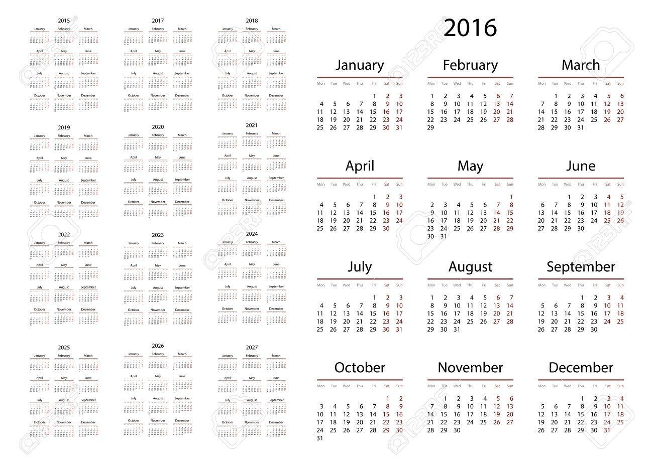 3 Year Calendar 2022 To 2024