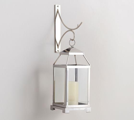 Pottery Barn Carriage Lamp: Wall-Mounted Lantern Scroll Hook