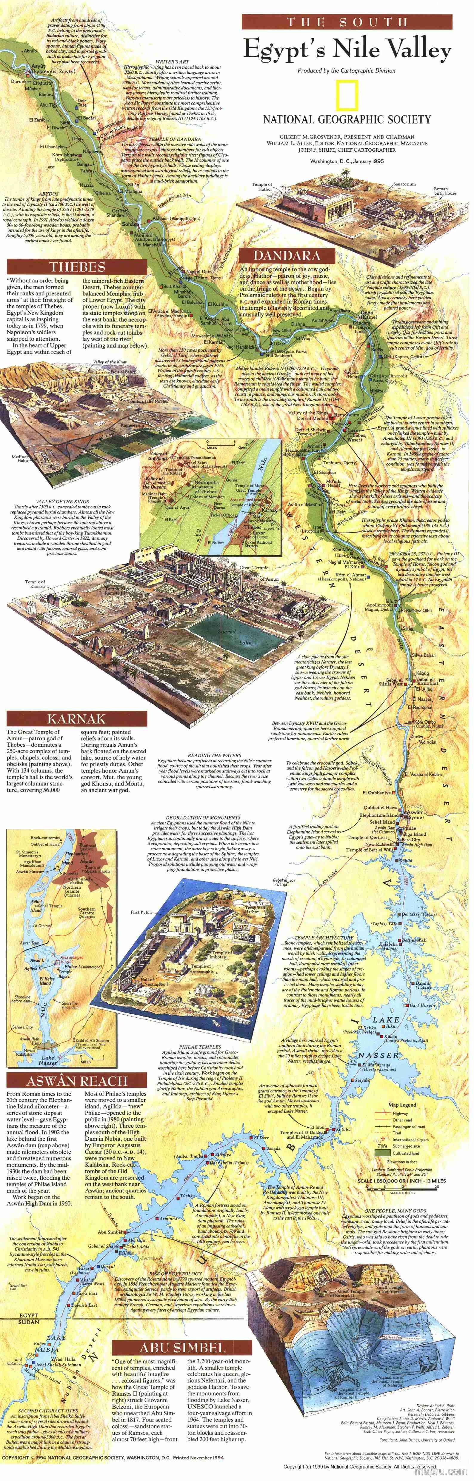 Egypt S Nile Valley Map