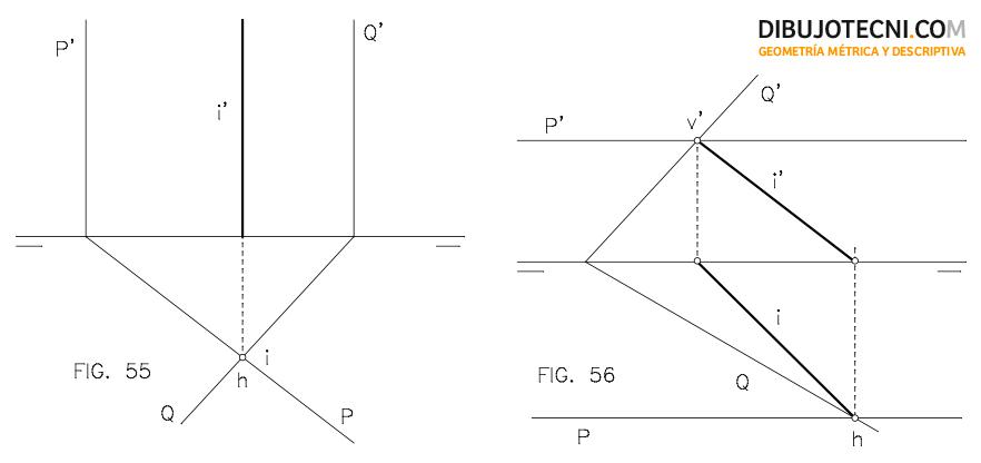 Sistema Diedrico Intersecciones Dibujo Tecnico Tecnicas De Dibujo Planos Geometria
