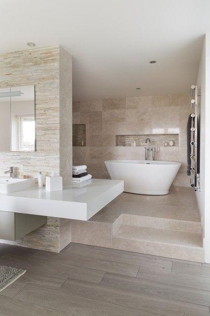 18 Divine Contemporary Bathroom Designs mit freistehendem Badezimmer, das Sie begeistern wird #contemporarykitcheninterior