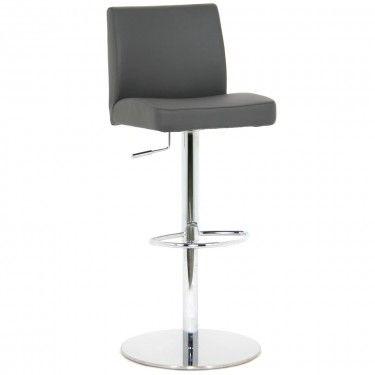 Lift Stool - Grey PU/chrome - Bar Stools - Bar - Mobler Furniture, Richmond: Vancouver BC
